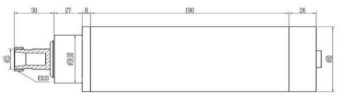 Шпиндель 2.2кВт (220В, ER-20)