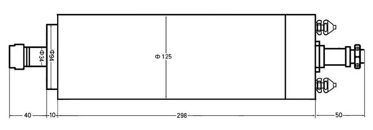 Шпиндель 5.5кВт (380В, ER25)
