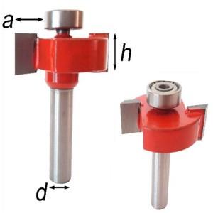 Фреза 2-x перьевая (для выборки четверти) глубиной 10 мм №0209