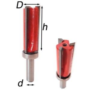 Фреза обходная (обкаточная) 3-х перьевая с верхним подшипником H30/H40/H50 №8113-3z