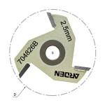 Сменный режущий диск (крепление гайкой) Z=3 D=47,6x2,2 ARDEN 704822B