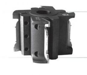Фреза цилиндрическая, с механическим креплением ножей для обработки погонажных изделий.