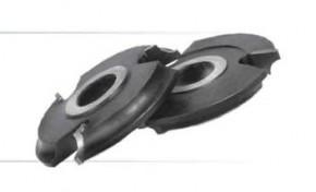 Фреза, напаянная твердым сплавом, для обработки полуштапов и штапов.