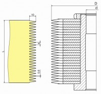 Фрезы для обработки шипов для сращивания древесины ДФ-25.00 а
