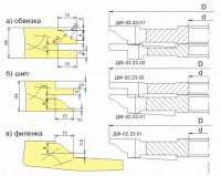 Комплект фрез для изготовления мебельной обвязки, шипа и филенки ДФ-02.23
