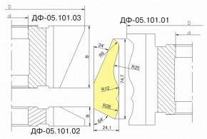 Комплект фрез для изготовления плинтуса ДФ-05.101
