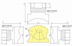 Комплект фрез для изготовления поручней ДФ-17.04