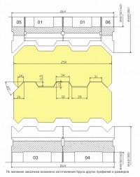 Комплект фрез для изготовления стенового бруса ДФ-18-04