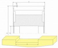 Комплект фрез для выборки пазов поперек волокон в брусе дф - 18.25