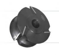 Комплект фрез с механическим креплением ножей из быстрорежущей инструментальной стали, для изготовления поручня и обработки контура подоконника.