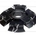 Комплект фрез, с механическим креплением пластин, для изготовления мебели.